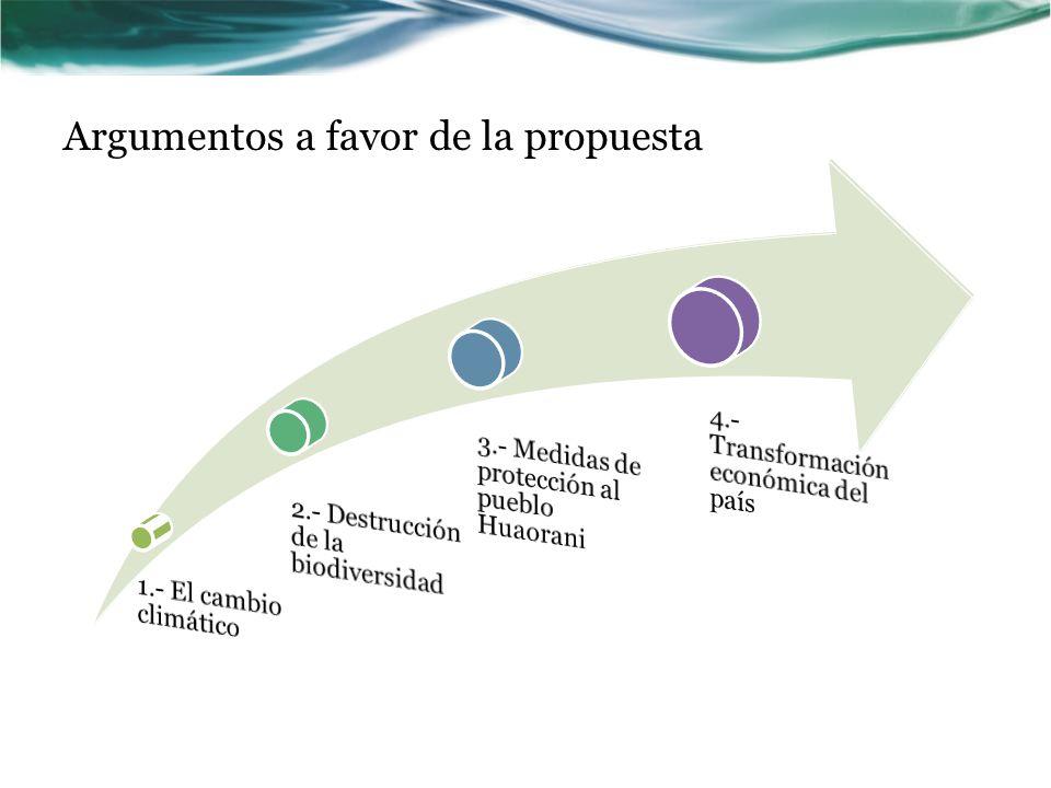 Argumentos a favor de la propuesta
