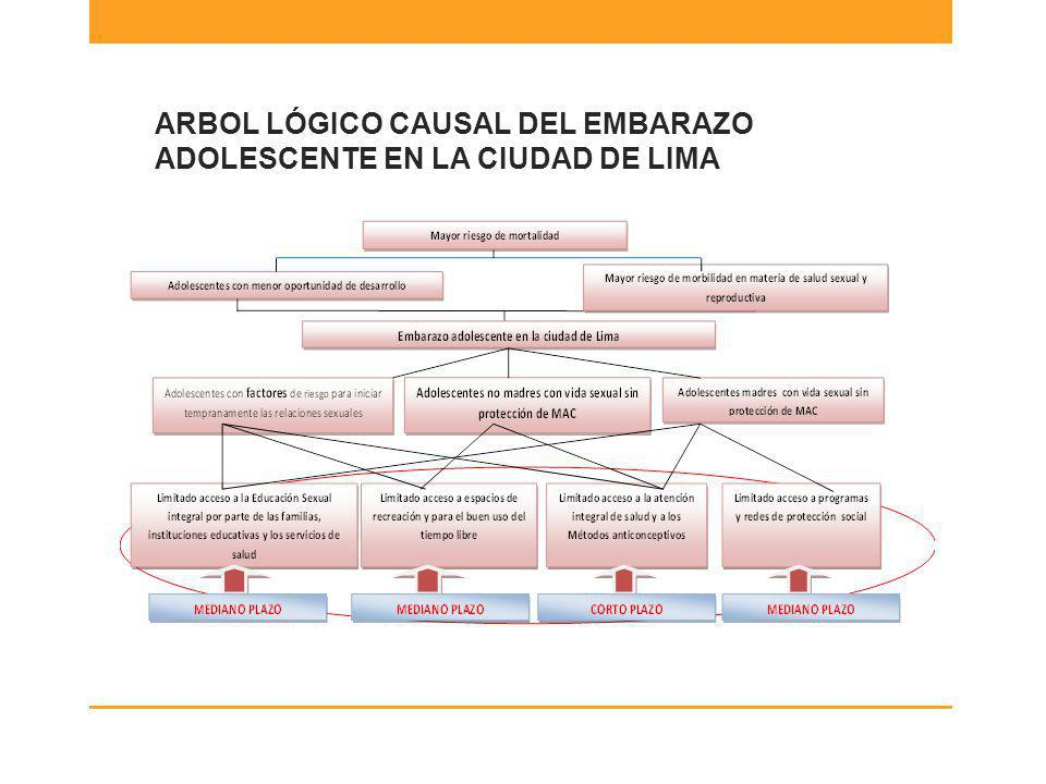 ARBOL LÓGICO CAUSAL DEL EMBARAZO ADOLESCENTE EN LA CIUDAD DE LIMA