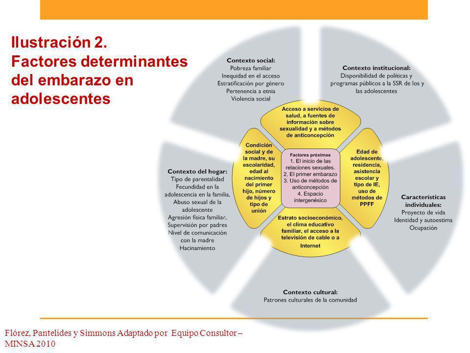 Ilustración 2. Factores determinantes del embarazo en adolescentes