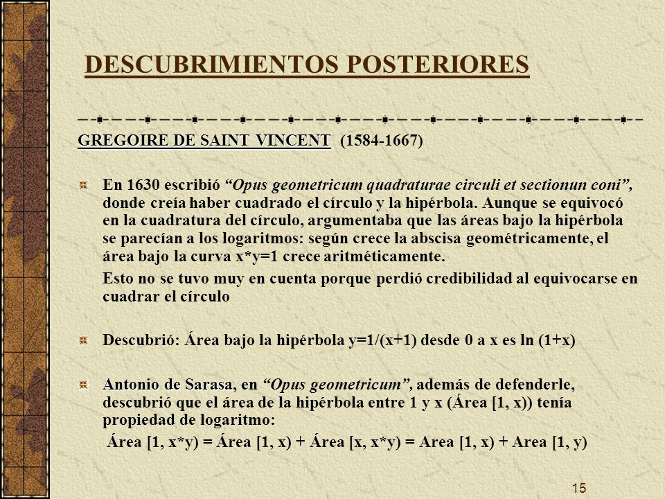 DESCUBRIMIENTOS POSTERIORES