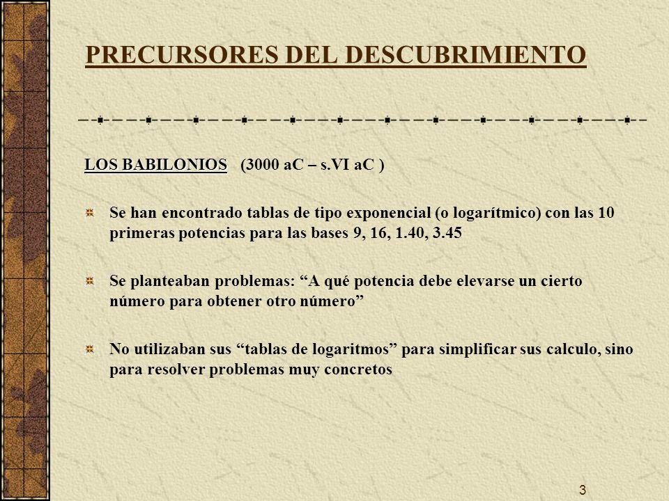 PRECURSORES DEL DESCUBRIMIENTO
