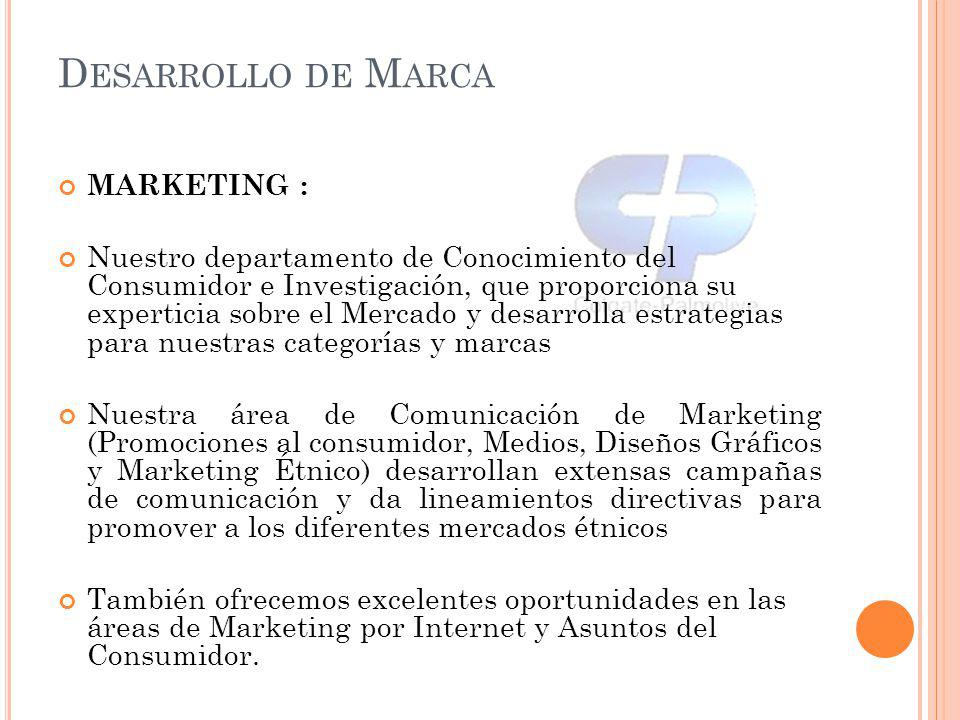 Desarrollo de Marca MARKETING :