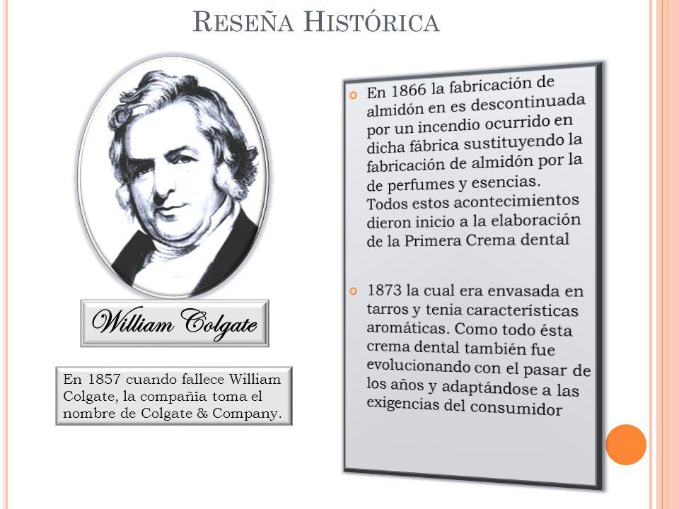 William Colgate Reseña Histórica