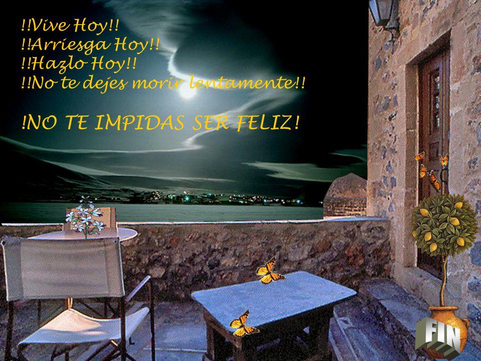 FIN !NO TE IMPIDAS SER FELIZ! !!Vive Hoy!! !!Arriesga Hoy!!