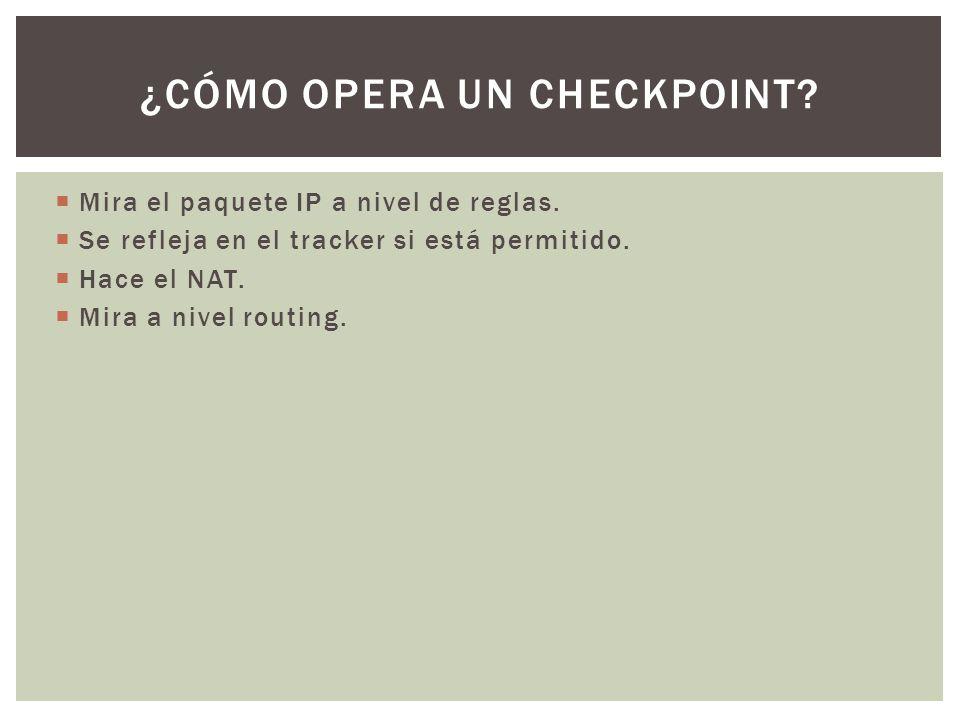 ¿Cómo opera un checkpoint