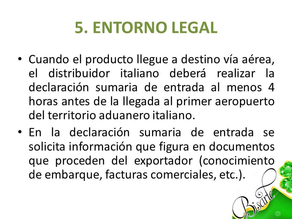 5. ENTORNO LEGAL