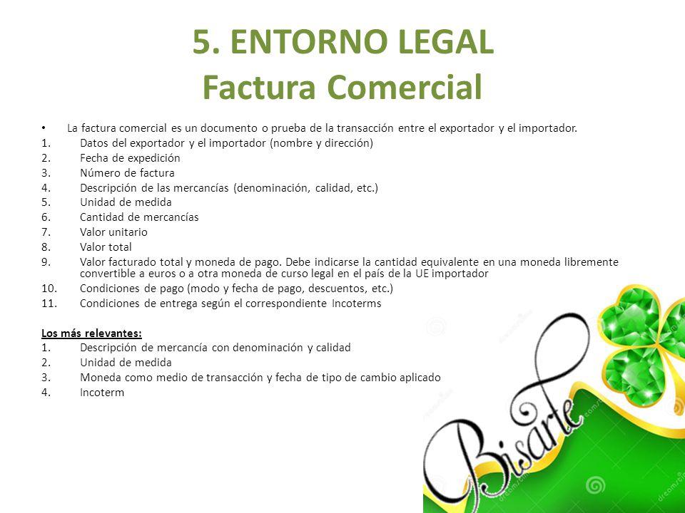 5. ENTORNO LEGAL Factura Comercial