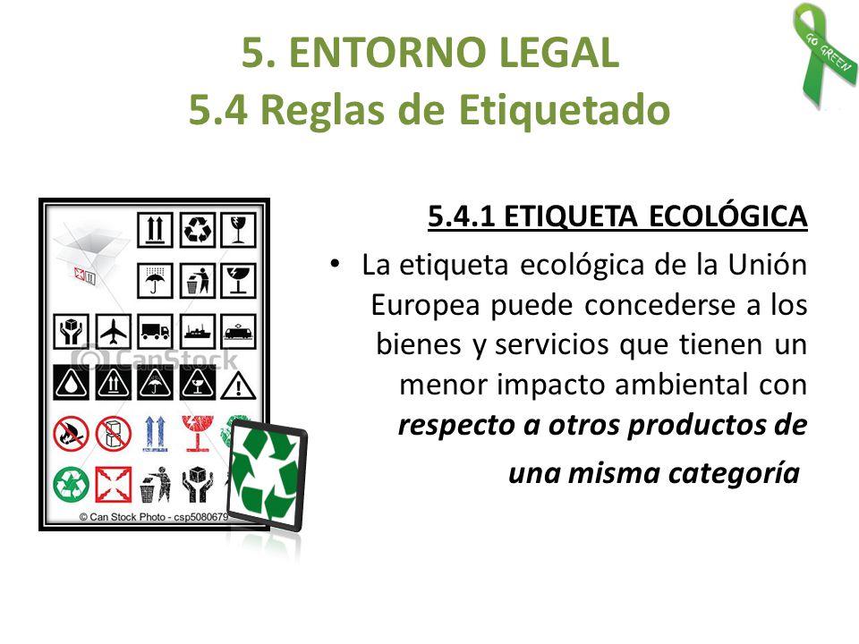 5. ENTORNO LEGAL 5.4 Reglas de Etiquetado
