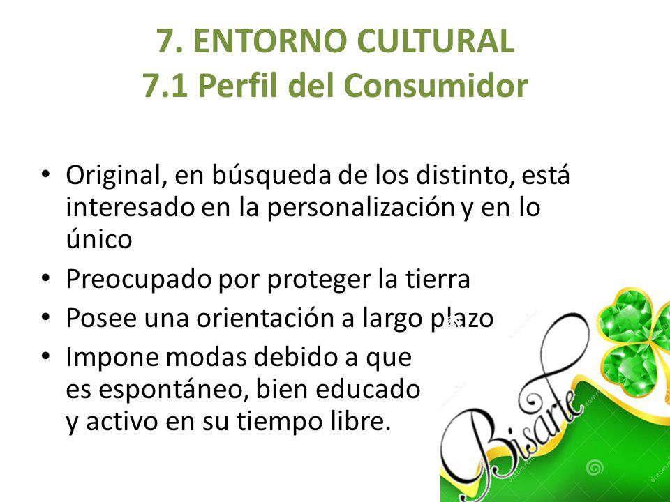 7. ENTORNO CULTURAL 7.1 Perfil del Consumidor