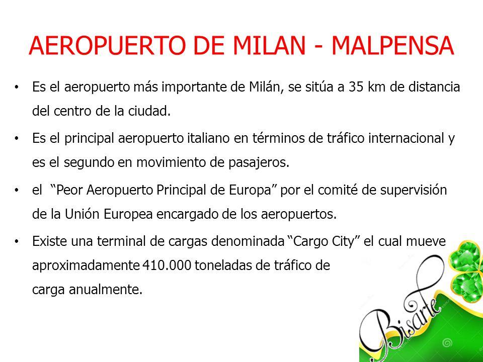AEROPUERTO DE MILAN - MALPENSA