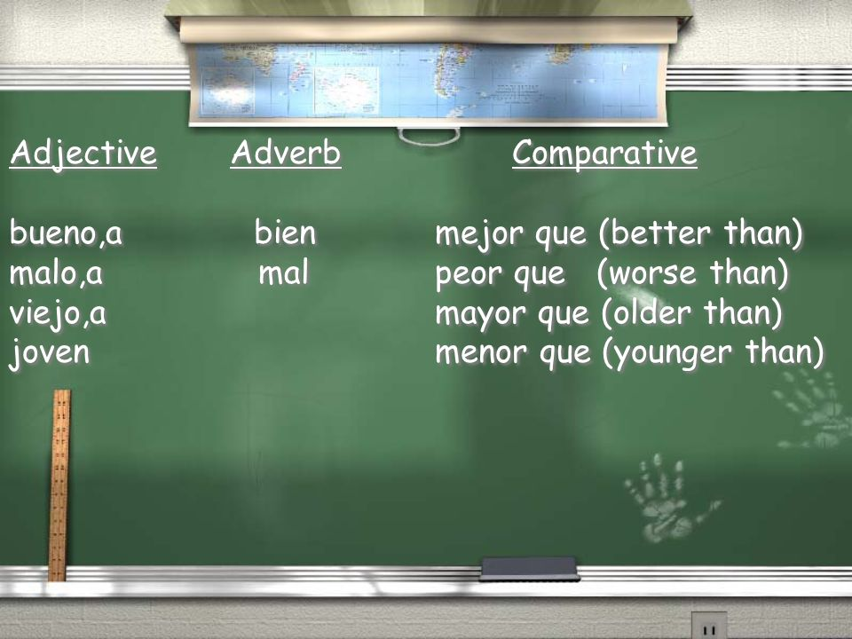 Adjective Adverb Comparative