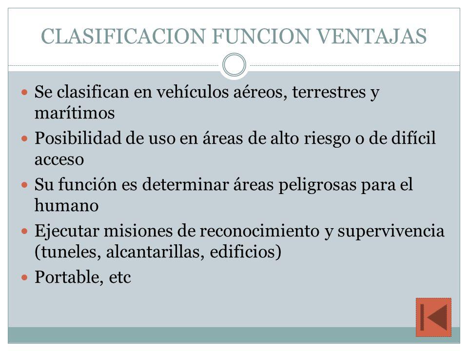 CLASIFICACION FUNCION VENTAJAS