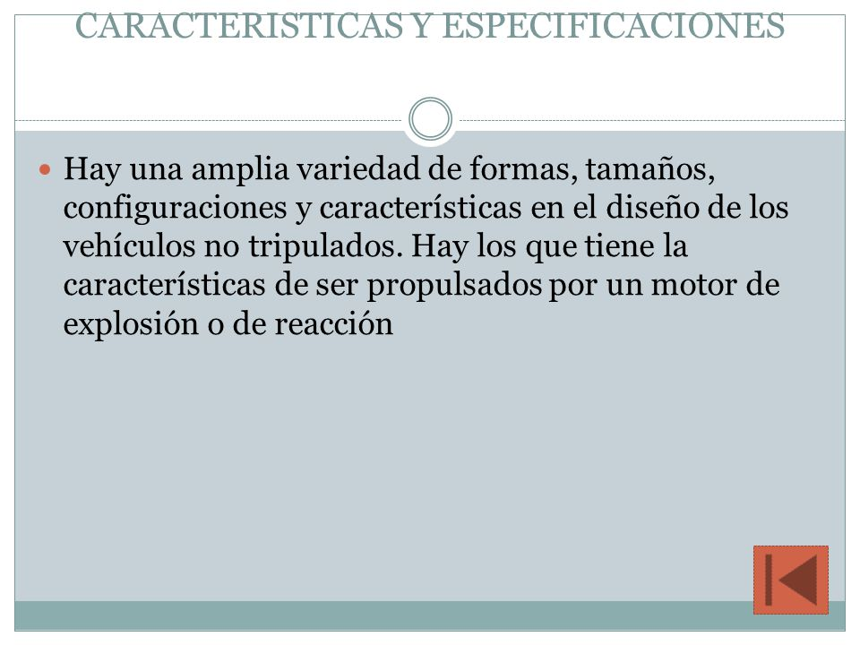 CARACTERISTICAS Y ESPECIFICACIONES