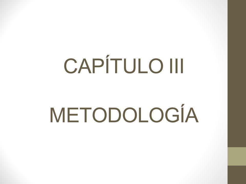 CAPÍTULO III METODOLOGÍA
