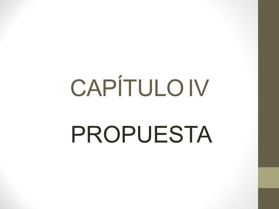 CAPÍTULO IV PROPUESTA