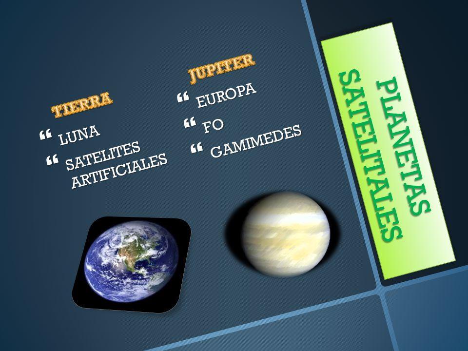 PLANETAS SATELITALES JUPITER EUROPA TIERRA FO GAMIMEDES LUNA