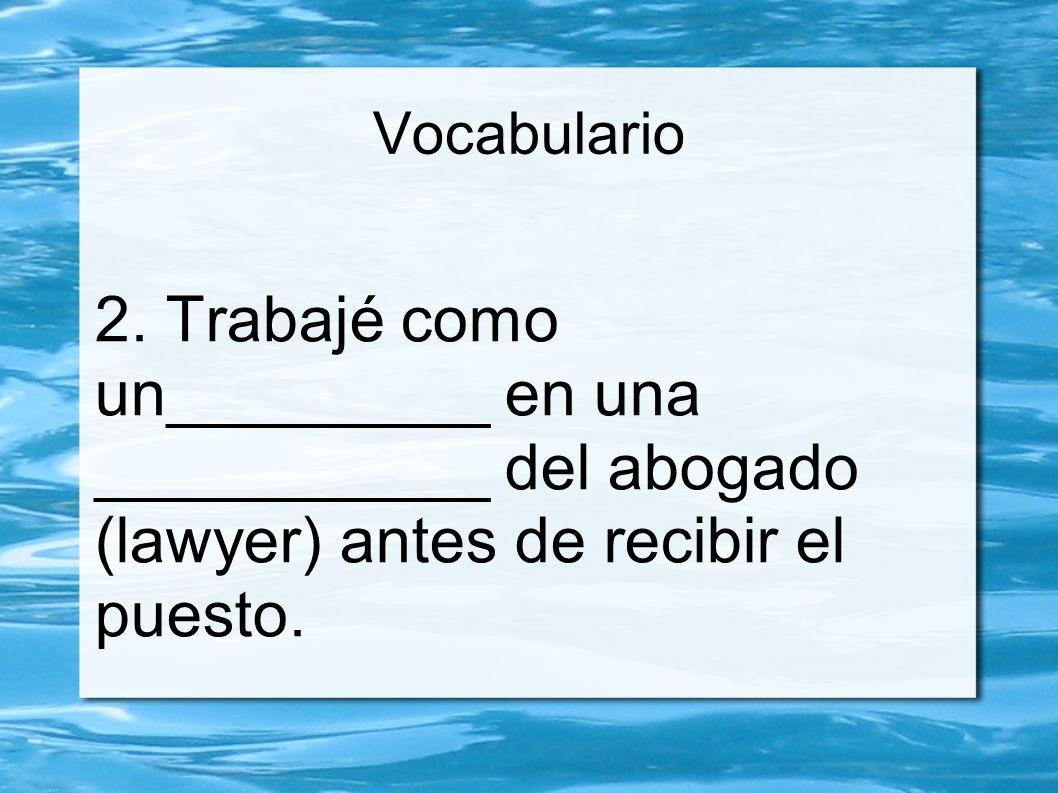 Vocabulario 2.