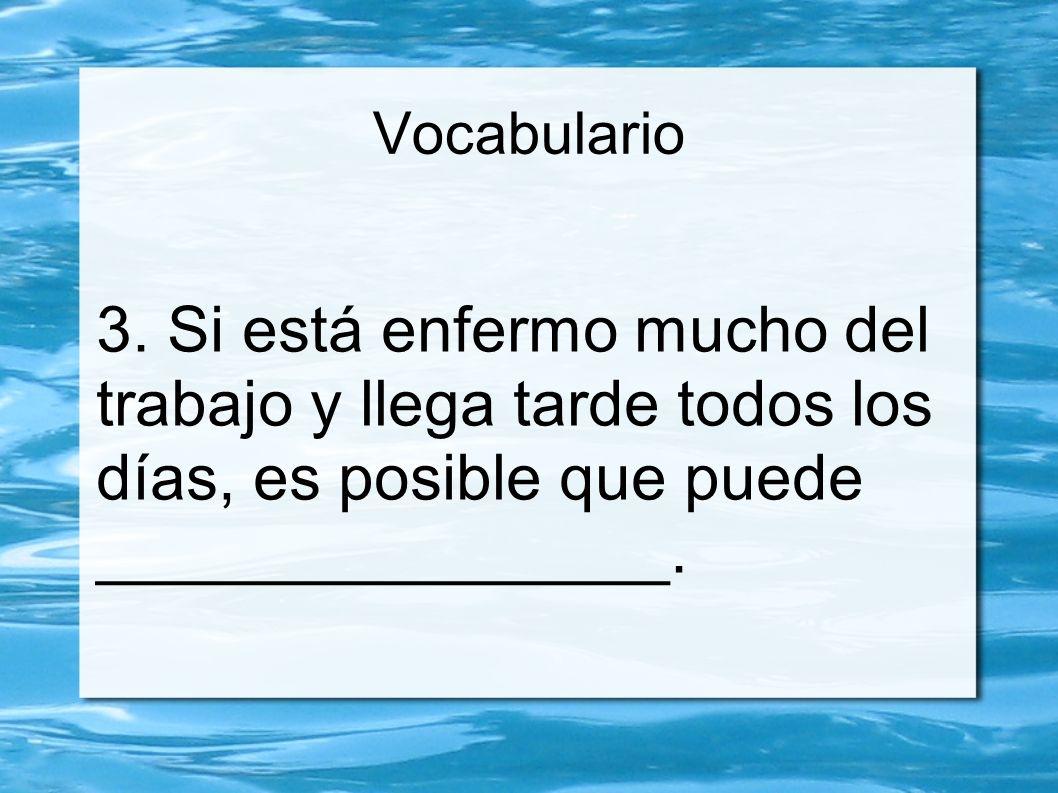 Vocabulario 3.