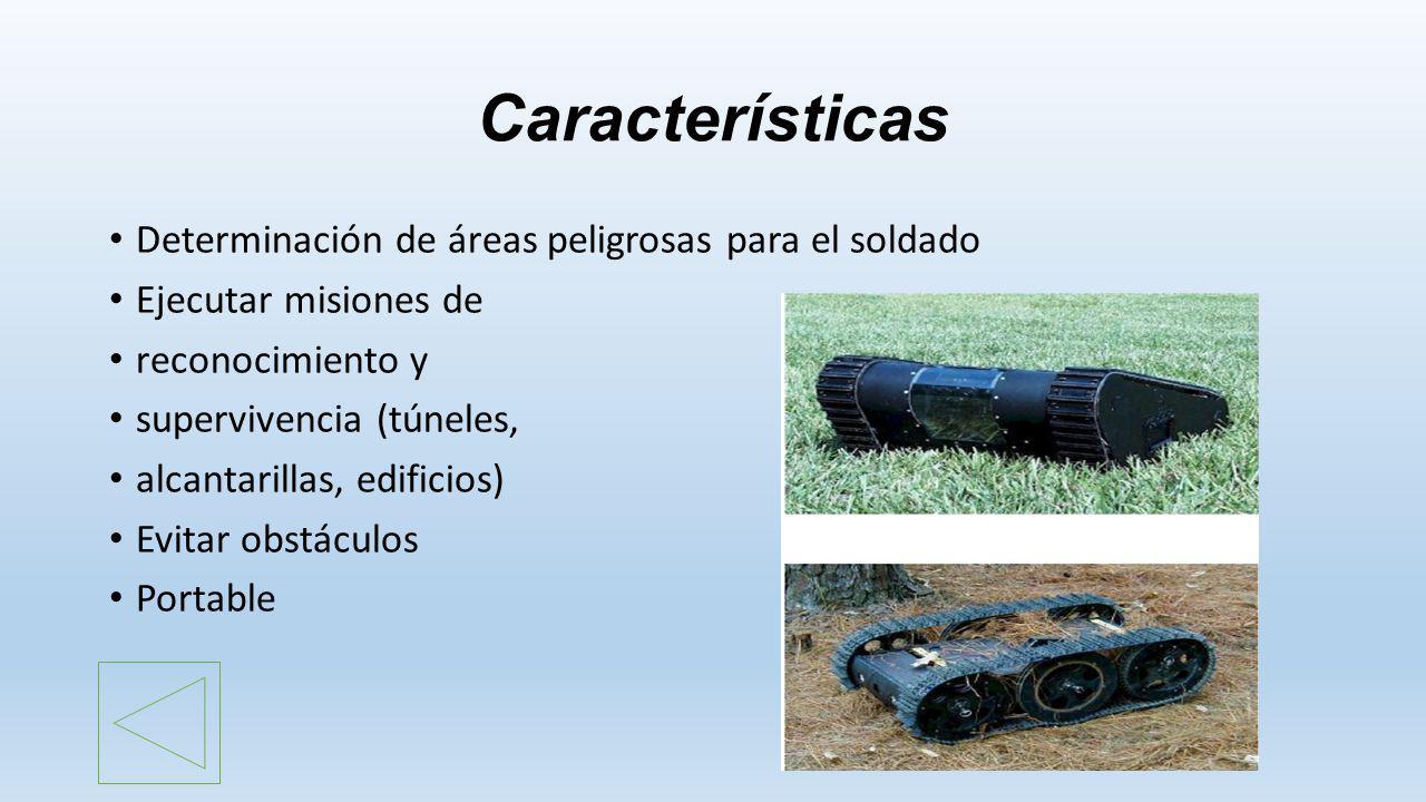 Características Determinación de áreas peligrosas para el soldado