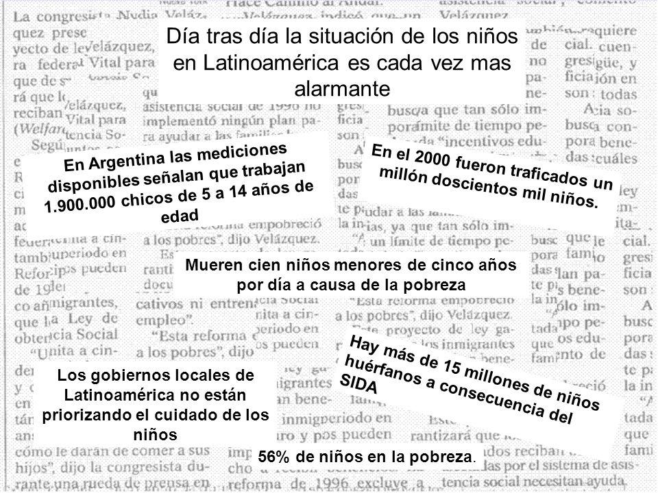 Día tras día la situación de los niños en Latinoamérica es cada vez mas alarmante