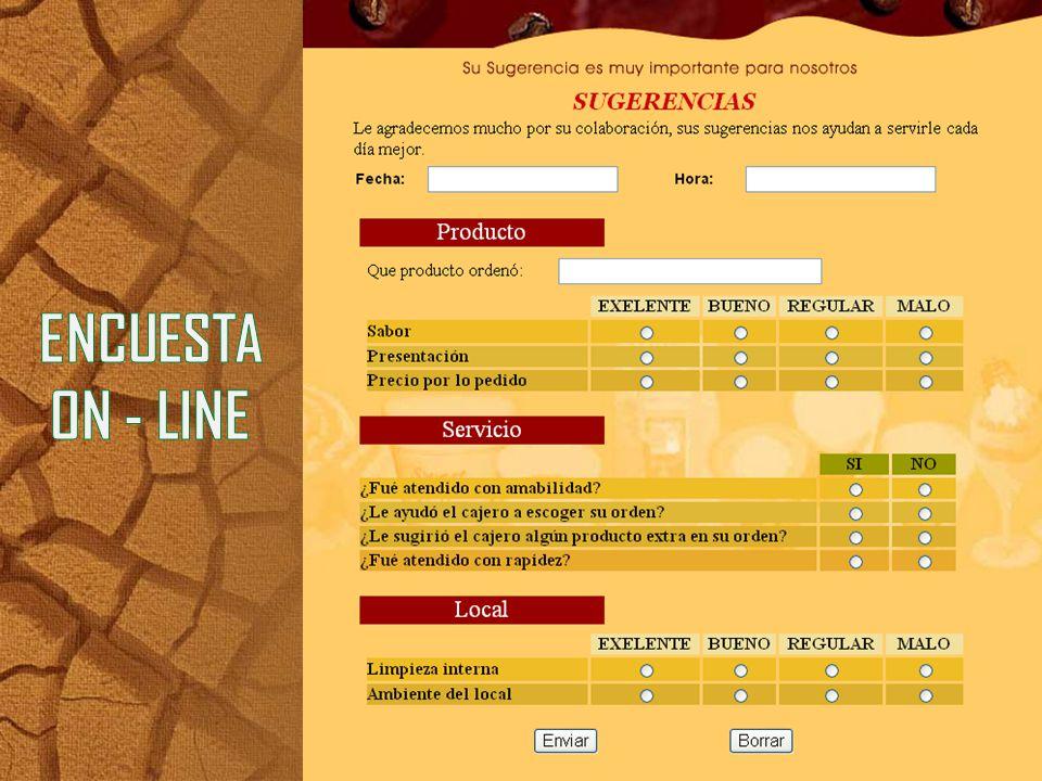 ENCUESTA ON - LINE