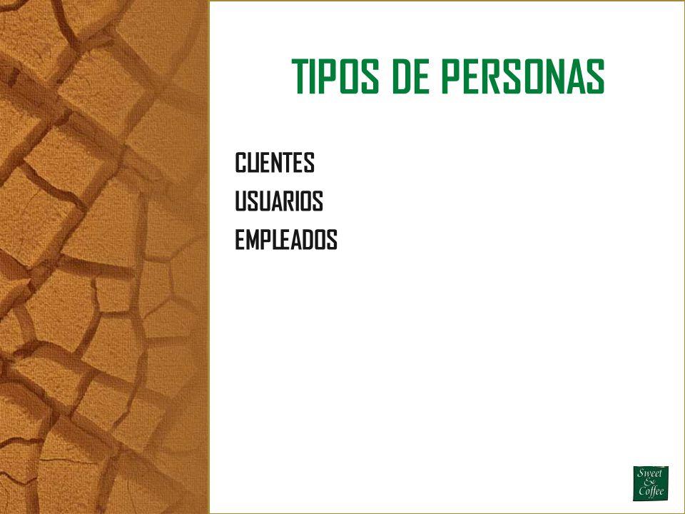 TIPOS DE PERSONAS CLIENTES USUARIOS EMPLEADOS