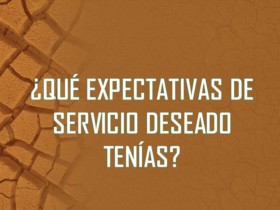¿QUÉ EXPECTATIVAS DE SERVICIO DESEADO TENÍAS
