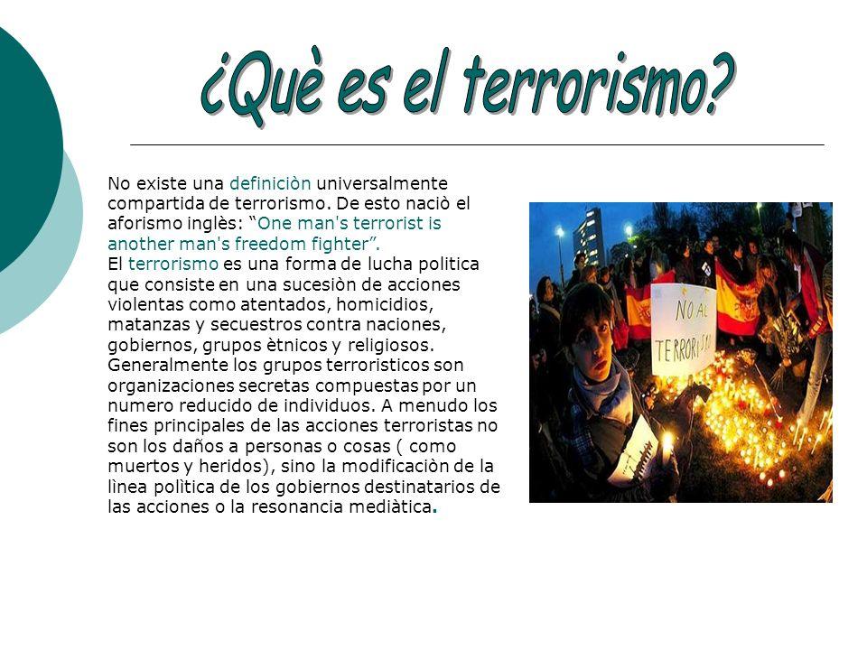 ¿Què es el terrorismo