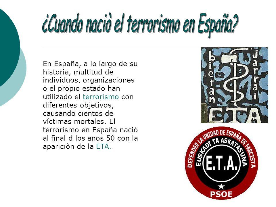 ¿Cuando naciò el terrorismo en España