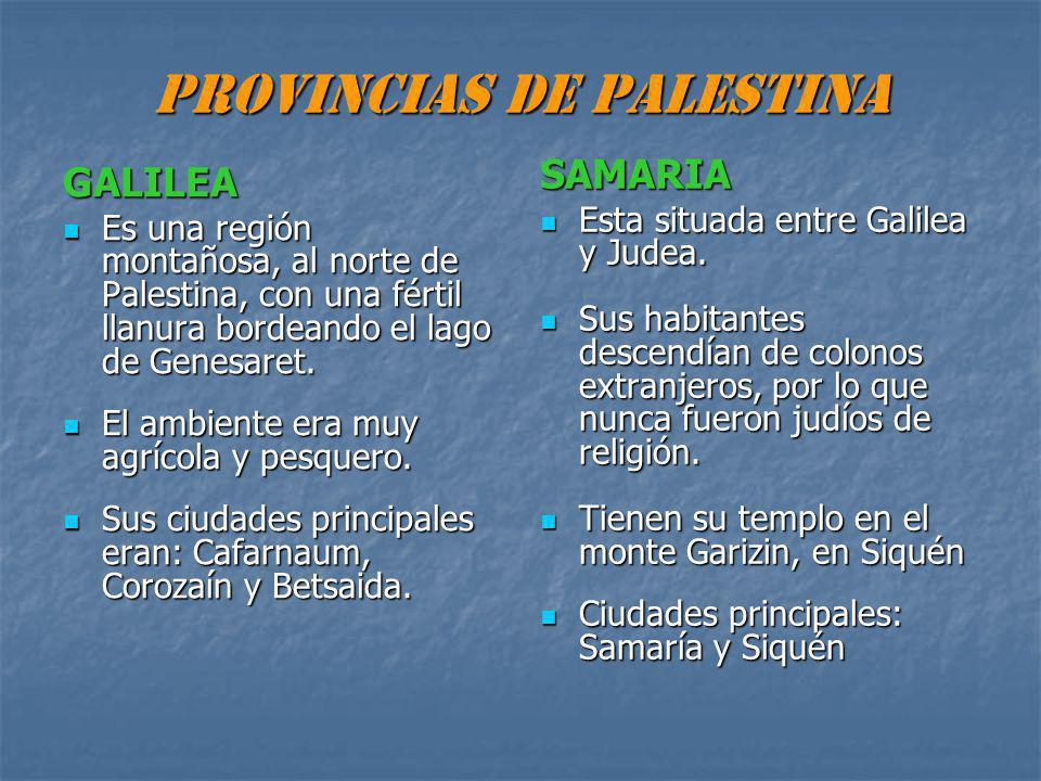 PROVINCIAS DE PALESTINA