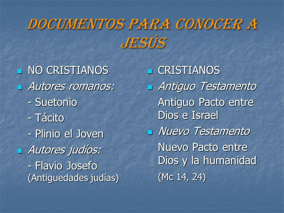 DOCUMENTOS PARA CONOCER A JESÚS