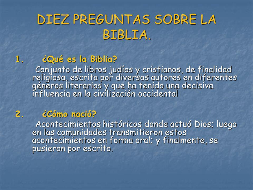 DIEZ PREGUNTAS SOBRE LA BIBLIA.