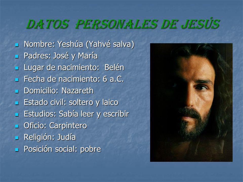 DATOS PERSONALES de jesús