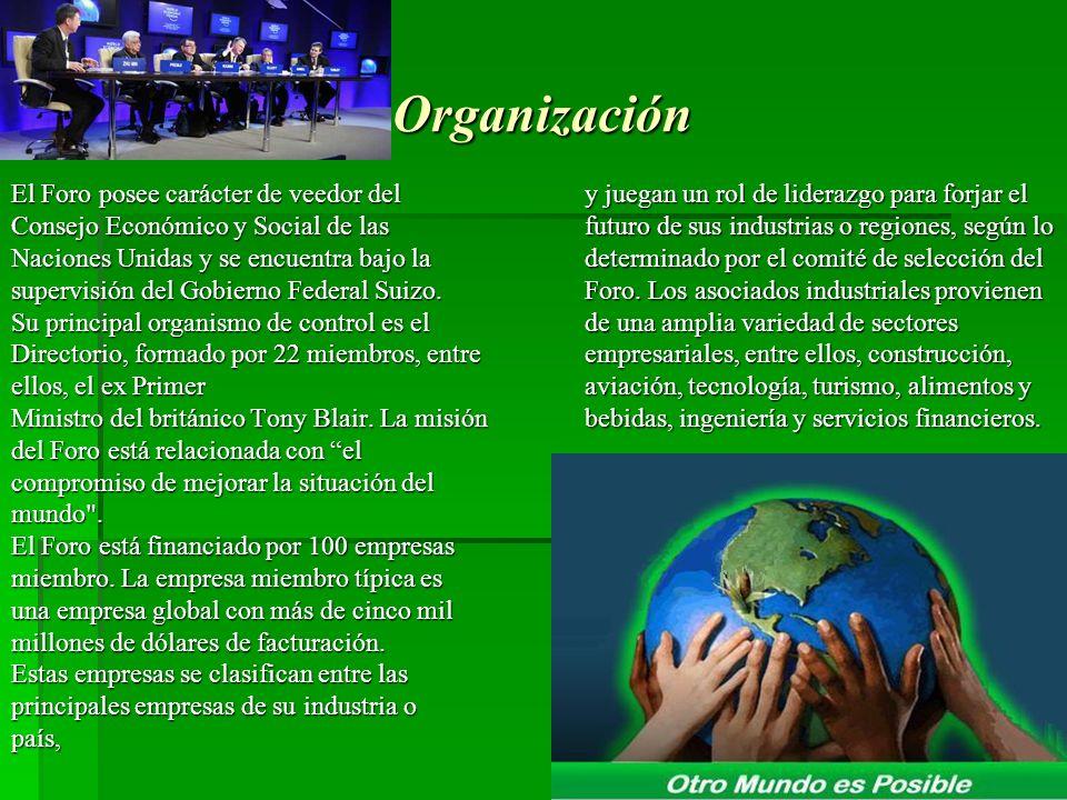 Organización El Foro posee carácter de veedor del