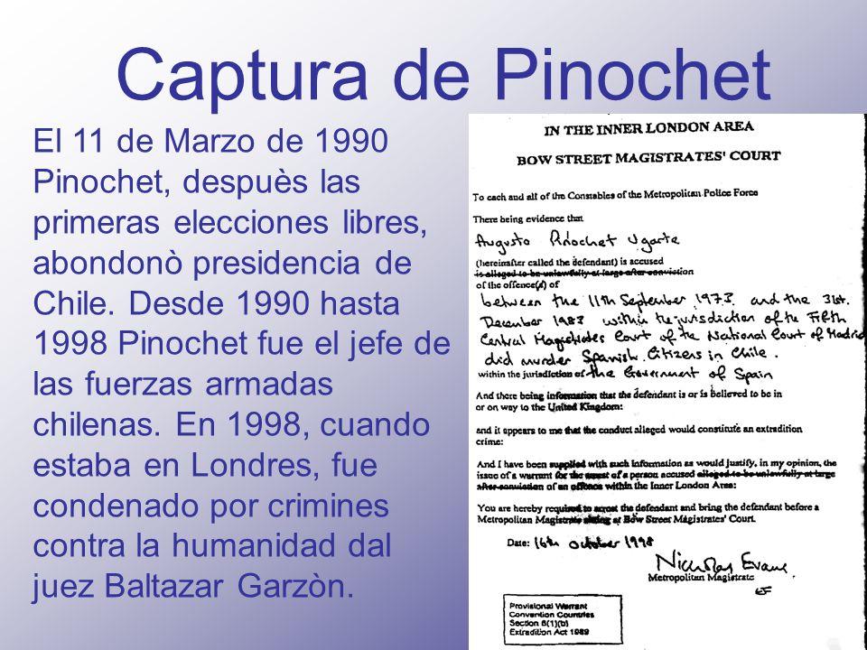 Captura de Pinochet