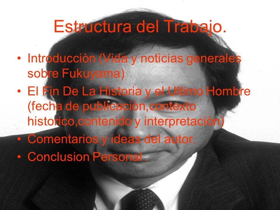 Estructura del Trabajo.