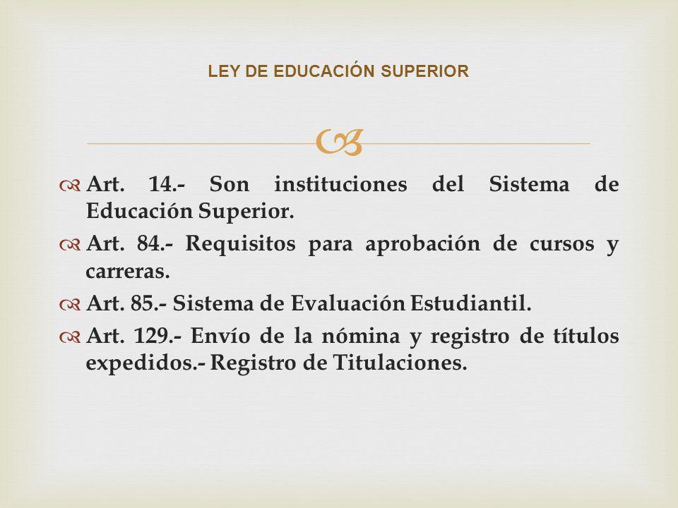 LEY DE EDUCACIÓN SUPERIOR