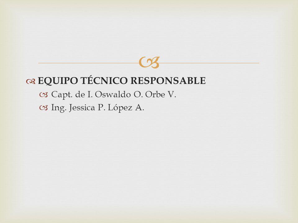 EQUIPO TÉCNICO RESPONSABLE