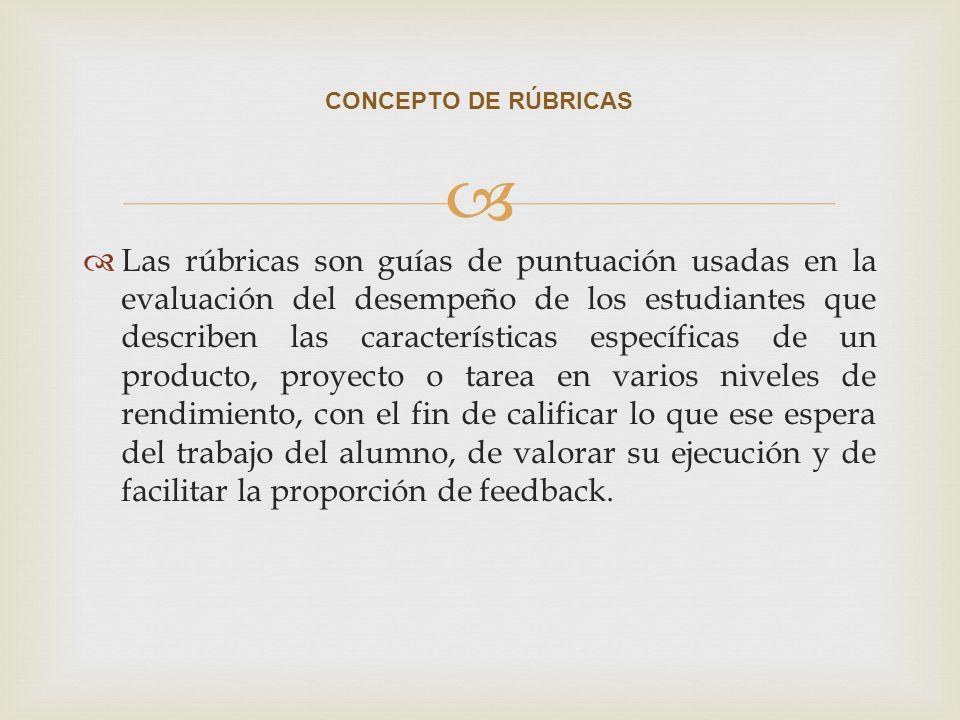 CONCEPTO DE RÚBRICAS