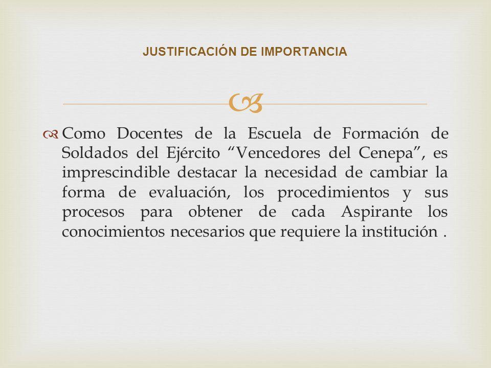 JUSTIFICACIÓN DE IMPORTANCIA