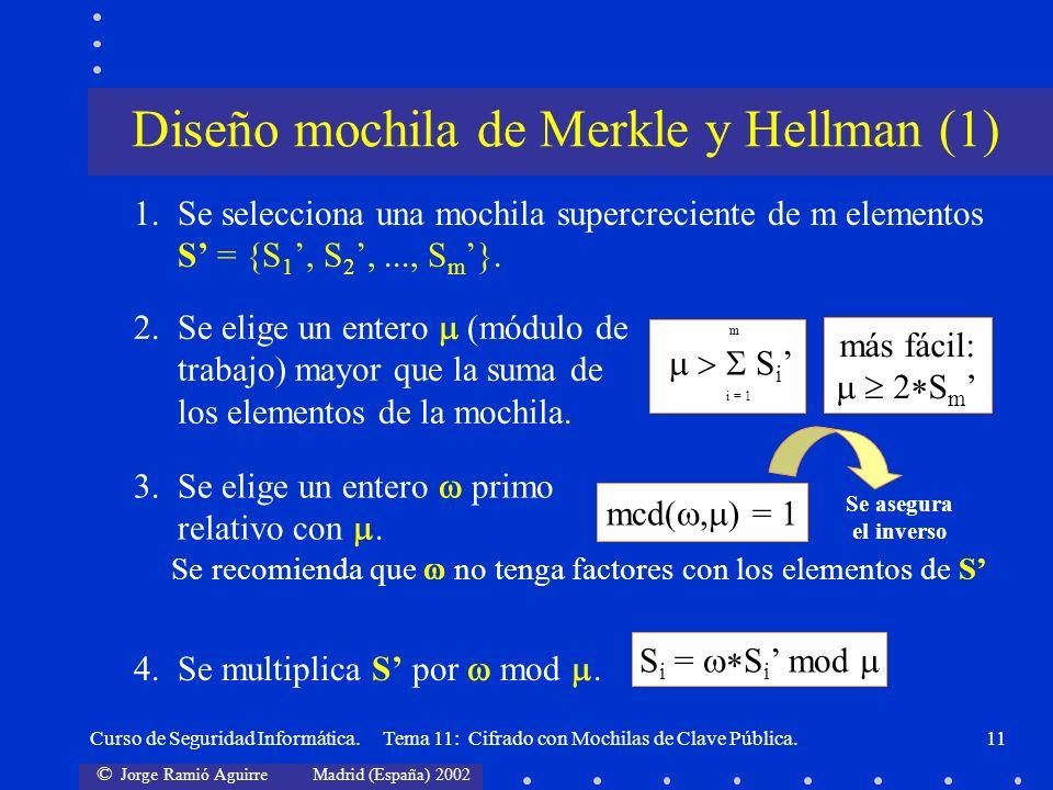 Diseño mochila de Merkle y Hellman (1)