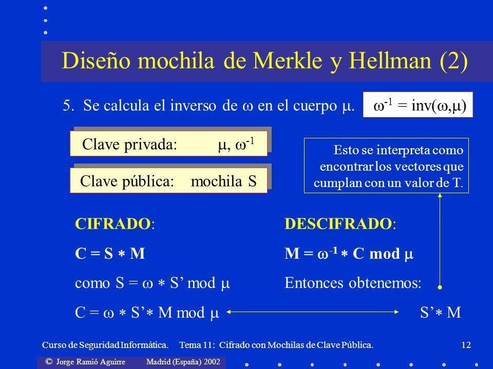 Diseño mochila de Merkle y Hellman (2)