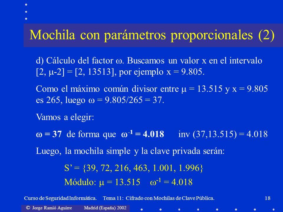 Mochila con parámetros proporcionales (2)