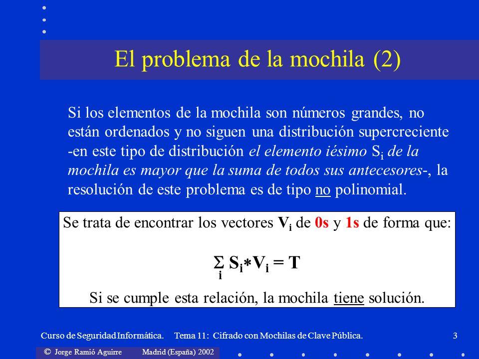 El problema de la mochila (2)