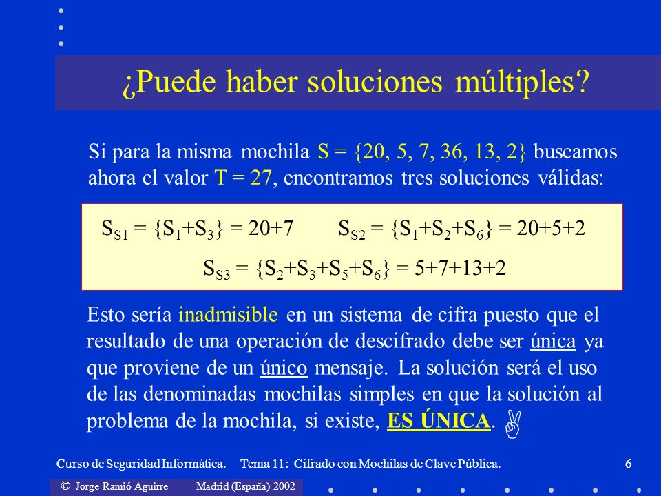 ¿Puede haber soluciones múltiples