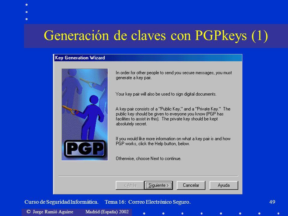 Generación de claves con PGPkeys (1)