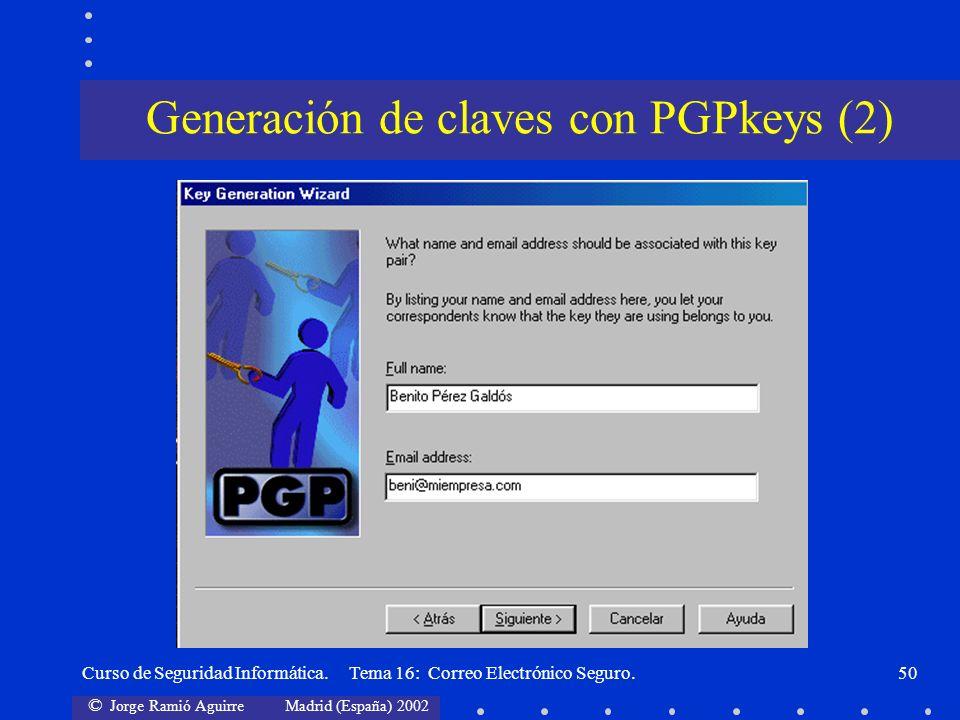 Generación de claves con PGPkeys (2)