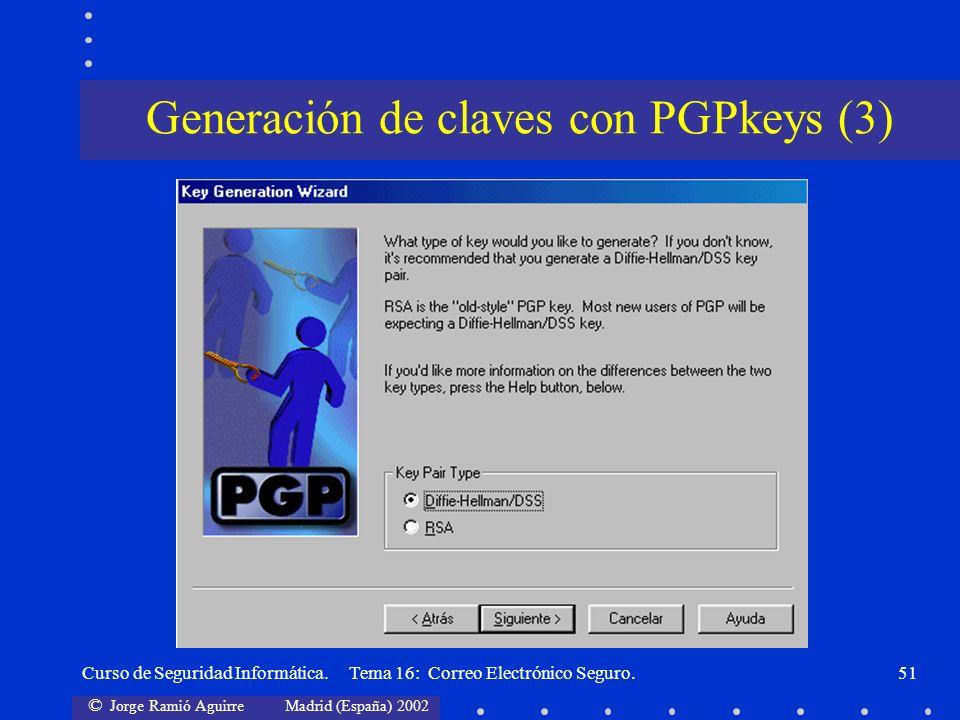 Generación de claves con PGPkeys (3)
