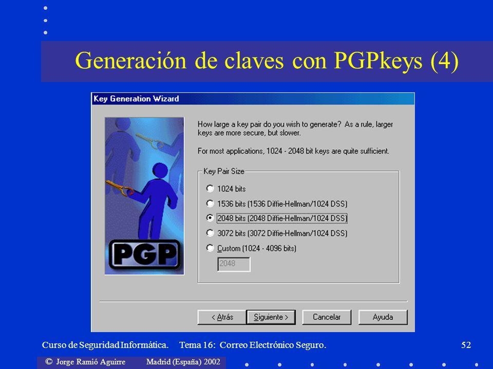 Generación de claves con PGPkeys (4)