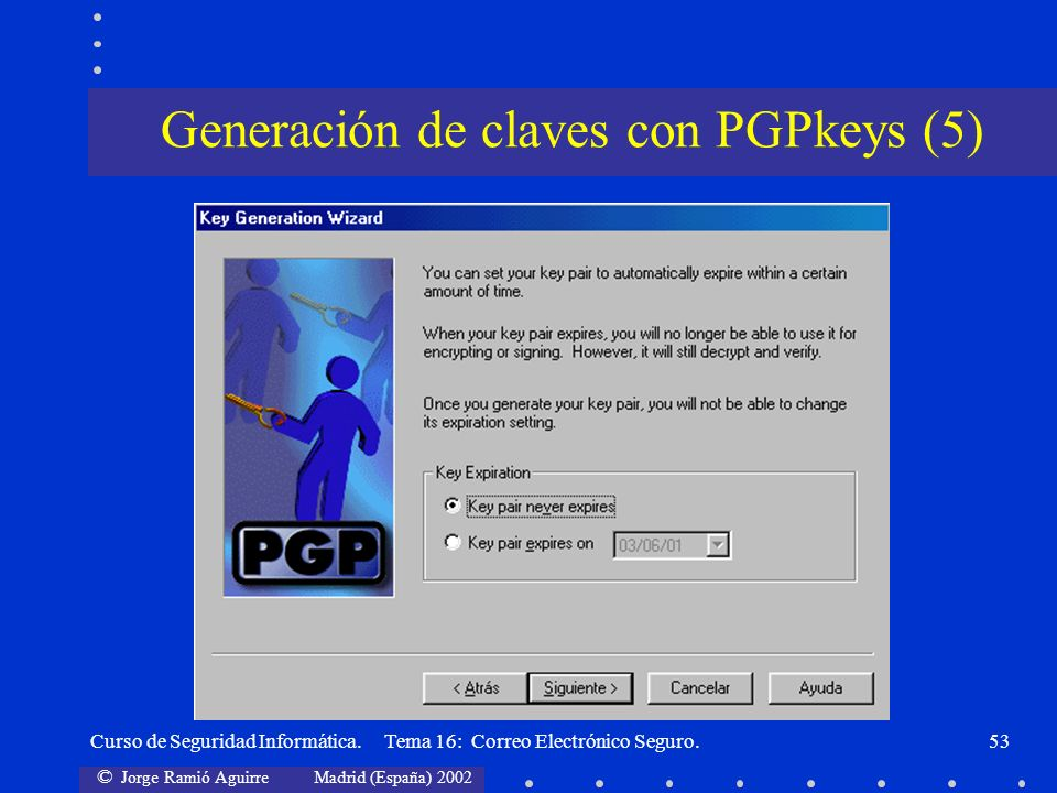 Generación de claves con PGPkeys (5)
